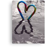 Candy Kane Heart Canvas Print
