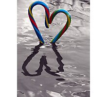 Candy Kane Heart Photographic Print