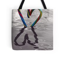 Candy Kane Heart Tote Bag