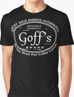 Goff's Brand Chest High Rubber Overpants Graphic T-Shirt