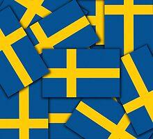 Smartphone Case - Flag of Sweden - Multiple by Mark Podger