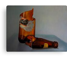 Beer Bottle Art Canvas Print