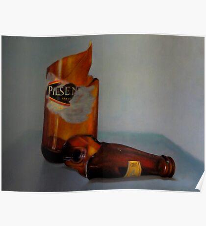 Beer Bottle Art Poster