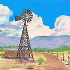 Southwest Windmill  by EllieTaylorArt