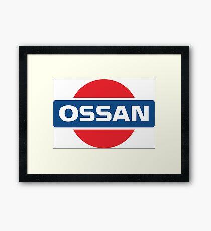 NISSAN parody - OSSAN LOGO Framed Print