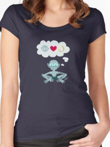 Ring Love Doom Women's Fitted Scoop T-Shirt