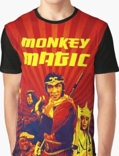 MONKEY MAGIC (Fiery with text) Graphic T-Shirt