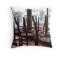 inside of a bar in Paris Throw Pillow