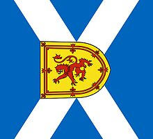 Smartphone Case - Flag of Scotland (unofficial) - Vertical by Mark Podger