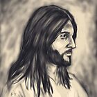 Charcoal Picture of Jesus  by EllieTaylorArt