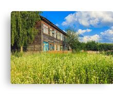 Old Wood House On The Countryside Canvas Print