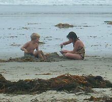 Brother Sister Sandcastles by DeathlyMad