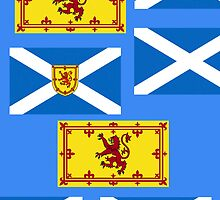 Iphone Case - Flags of Scotland - Multi horizontal  by Mark Podger