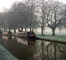 Visitor Moorings Beside Shobnal Fields by Rod Johnson
