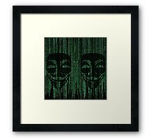 Anonymous Coding  Framed Print