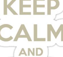Keep Calm and Ship Chalant Tee Sticker