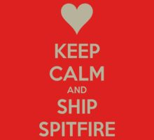 Keep Calm and Ship Spitfire Tee by Niamh Wilson