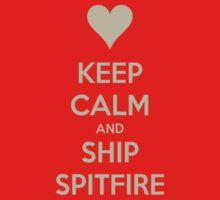 Keep Calm and Ship Spitfire Tee by Niamh Anna Wilson