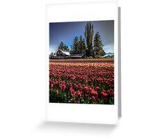 Barns And Blossoms Greeting Card