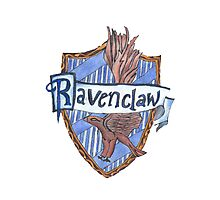 Ravenclaw crest phone case Photographic Print