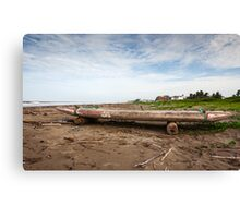 Ecuadorian Fishing Raft - Color Canvas Print