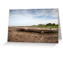Ecuadorian Fishing Raft - Color Greeting Card
