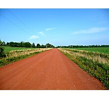 Straight Red Road Photographic Print