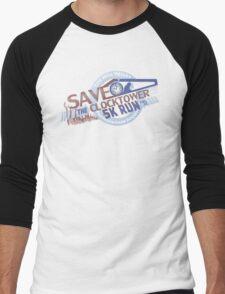 Save the Clocktower 5k Run Men's Baseball ¾ T-Shirt