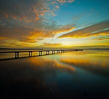 Rippleside at Sunrise by Danielle  Miner
