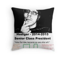 Freddie Hediger Campaign Throw Pillow