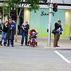Waiting for the marchers. by Dave  Miller