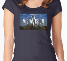 Presented in VistaVision! (with background) Women's Fitted Scoop T-Shirt