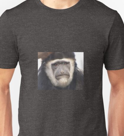 Black and white colobus monkey, primate Unisex T-Shirt