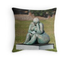 The Book Worm Throw Pillow