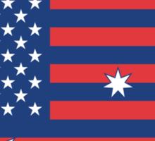 Ameristralia Flag (Text One) Sticker