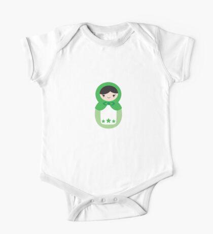 Matryoskha Doll - Peppermint Green One Piece - Short Sleeve