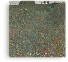 Klimt Poppy Field Canvas Print