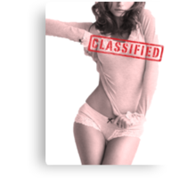 Classified - Cloudy Cali Canvas Print