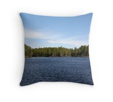 New Engand  Pond Throw Pillow