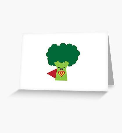 Super Broccoli Greeting Card