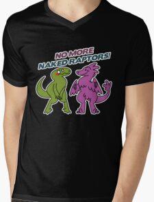 No Naked Raptors Mens V-Neck T-Shirt