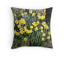 Country Daffodils Throw Pillow