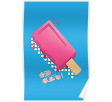 Cute Popsicle Cartoon Poster