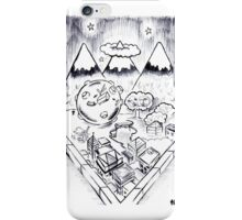 Katamari Goes For A Stroll (Through the Valley) iPhone Case/Skin