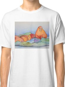 Warm Walrus Contemplating Cool Wishes Classic T-Shirt