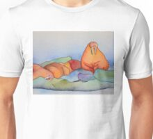 Warm Walrus Contemplating Cool Wishes Unisex T-Shirt