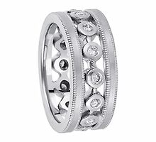 Contoured Wedding Bands for Women  and diamond eternity wedding bands  by weddingbands25