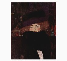 Klimt Lady with Hat and Feather Boa Unisex T-Shirt