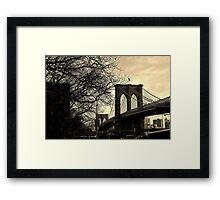 Brooklyn Bridge, New York City - by Kirsty Drummond Framed Print