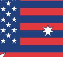Ameristralia Flag (Text Four) Sticker